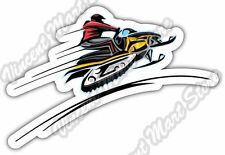 "Snowmobile Racing Ski-Doo Winter Sport Car Bumper Vinyl Sticker Decal 5""X4"""