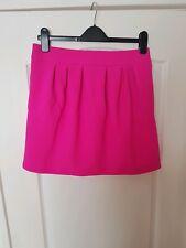 River Island Pink Box Pleat mini skirt size 12