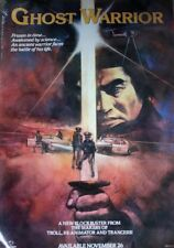 Vintage original movie poster GHOST WARRIOR one sheet 27x40 SAMURAI 1986
