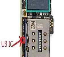 2X iphone 5 5G Menu & Power Hold Key Home Button Control ic U3 6 pin IC Chip