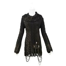 Punk Rave Black Sweater Dress Gothic Post Apocalyptic Steampunk Visual Kei NWT