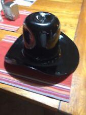 Ebony Hand Blown Glass Blenko Cowboy Hat