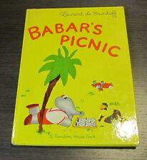 Babar's Picnic Laurent de Brunhoff 1949 Possible 1st American Edition Elephant