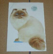 Lovely Free-Standing Seal Point Colourpoint Or Himalayan Cat Blank Card