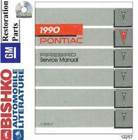 1990 Pontiac Firebird Shop Service Repair Manual CD Engine Drivetrain Wiring OEM