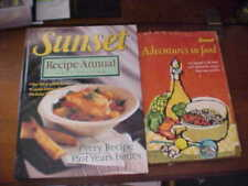 Sunset Cookbooks Adventures in Food And Recipe Annual 2001 Edition 2 Books Total