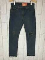 Levis LVC 1969 606 Style Black Washed Sample Slim Ripped Jeans W30 L30 £155 NEW