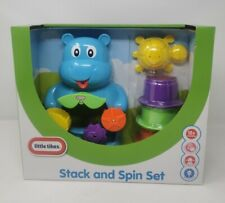 New Little Tikes Stack and Spin Set Bath Toy Hippo Sensory 12 Months Spin