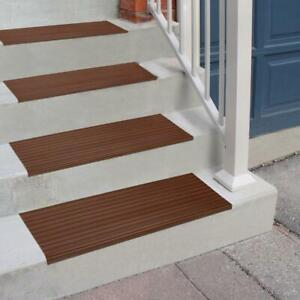 Brown 9.25 in. x 24 in. PVC Stair Tread Cover - 13 Included