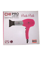 CHI Pro Low EMF Professional PINK Hair Dryer w/Nozzle & Diffuser NEW UNOPENED