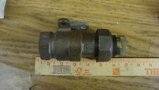 """1"""" Normac Luboseal Gas Meter Valve 175 Psig Black Iron Body Brass Lockwing"""