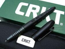 COLUMBIA RIVER CRKT Black Aluminum TAO PEN 2 Tactical Ink Pen + Case! TPENAEK