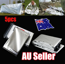 5pcs Space Blanket Thermo Foil Emergency Survival Camping Rescue First Aid EE