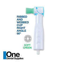 Dental Disposable Prophy Angles Green Soft Cups 90°  Latex Free 500pcs