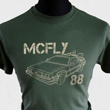 McFly 88 T Shirt Back to The Future Marty Delorean DMC12 Doc Brown Biff Flux Grn