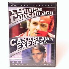 Double Feature The Swiss Conspiracy & Casablanca Express DVD NEW SEALED