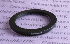 62mm to 49mm Male-Female Stepping Step Down Filter Ring Adapter 62mm-49mm UK