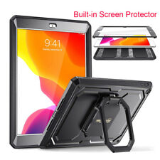 For Apple iPad 7th Gen 10.2'' 2019 360 Rotating Case Built-in Screen Protector