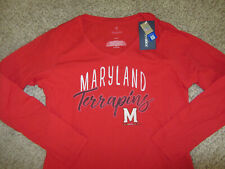 NWT Maryland Terrapins Womens T-Shirt L NCAA College Fanatics Womens NEW Red Tag