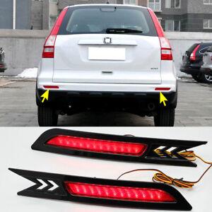 For Honda CRV CR-V 2010-2011 Rear Bumper LED Reflector Brake Fog Light Lamp 2PCS