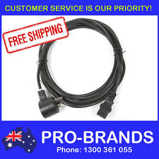 5m Piggyback IEC Plug 1.0mm Power Cable Lead Cord Jug Black Piggy Back 5-Metre
