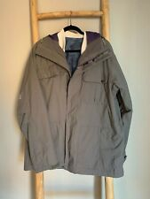 Burton Covert Insulated Jacket with Removable Thermal Sweatshirt Grey Size Large