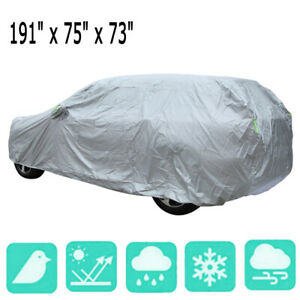 Waterproof Full Auto Car Cover Sun Snow Auti-Dust Rain Resistant Protection SUV