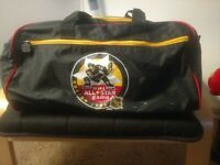 Vintage '96 NHL All Star Game Boston Duffel Bag Hockey Bruins Magazine Pin Plate