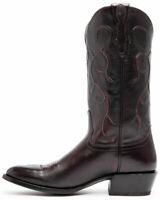 Bottes cowboy mexicaines à la main en cuir brun foncé à la main en cuir brun