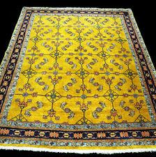 Designer Orient Teppich 197 x 165 cm Goldfarbe Perserteppich Herati Gabbeh Rug