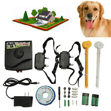 Pet Underground Electric Dog Fence Fencing System 2 Shock Collar Waterproof WP