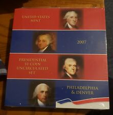 2007 P + D Presidential Dollar 8 Coin Set Mint Issued/Sealed