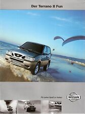 Prospekt / Brochure Nissan Terrano II Fun 04/2001