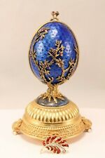 Faberge Firebird Egg Music Box House of Igor Carl Faberge w/ 14k Diamond Brooch