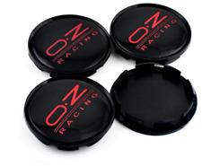 4x63mm OZ Racing Black Red Rim Caps Hubcaps Wheel Center Caps M595 Superturismo