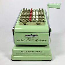 Vintage Paymaster Check Writer Printer Sea-foam Green Money Cashing Producer