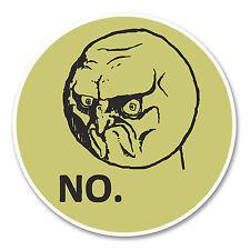2 x 10cm Meme Face Head Vinyl Sticker Funny Joke Computer Grumpy Car Bike #6156
