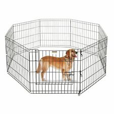 Folding Exercise Portable Pet Playpen Indoor Outdoor Dog Puppy Fences Gate