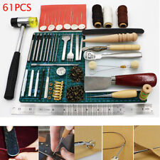 61Pcs Leather Tools Craft Sewing Kit for Beginner/Professional Leather Crafting