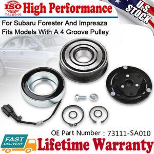 Fit 2008-2014 Subaru Forester WRX 2.0 2.5L AC Compressor Clutch Kit Pulley Coil