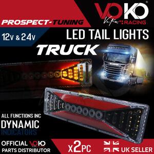 12v-24v TRUCK LED Rear Tail Lights Brake Indicator Reflectors Trailer UK VKZI11