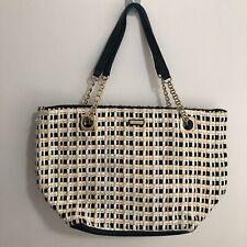 Kate Spade New York Women's Straw Chain Handbag Tote Shoulder Bag Excellent