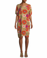 MASAI MULTICOLORED VISCOSE LIGHTWEIGHT FLORAL OVERSIZED TUNIC DRESS NENE-S