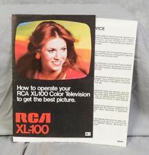 Rca xl100 tv manual