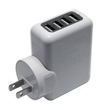 For Galaxy  iPhone 4-Port USB Charger AC Wall Plug Power Adapter