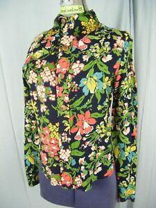 Vtg 60s Handmade Vibrant Mod Floral Printed Western Shirt-Bust 36/XS