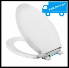 Kohler White Elongated Toilet Seat Quiet Close Lid Grip Tight Bumper 2 Led Light