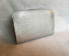 La Prairie Silver Cosmetic / Makeup Case Bag Travel Pouch, New without tags