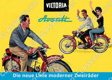 Victoria Avanti Moped Poster Plakat Bild Affiche Schild Reklame Kunstdruck Deko