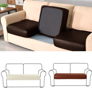 1/2/3/4 Seater PU Sofa Seat Covers Settee Protector Couch Slipcover Cushion Home